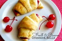 Food: Crescent Roll Recipes / Quick and easy recipes using refrigerator Crescent Rolls, Biscuits, Pie Crusts, Bread Rolls, Pizza Dough, and frozen bread dough. / by Barb Smith