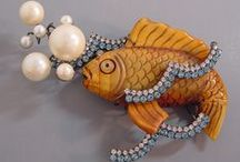 Jewelry: Fish/Ocean/Shells / FISH • SEAHORSES • OCTOPUS • SEASHELLS • LOBSTERS • CRABS • STARFISH