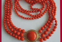 Jewelry: Coral / The color tones of coral vary from pink to red to pale to dark.  The coral jewelry pinned here are a variety of authentic coral to man made.  It's all about the gorgeous colors of Coral on this board.