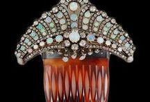 Vintage Fashion: Hair Ornaments / AIGRETTES • COMBS • CLIPS • FANCY BARRETTES • HAIR PINS • OTHER HAIR ORNAMENTS