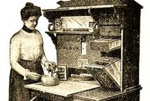 Food: Vintage Culinary / EARLY KITCHENS, MENUS, COOKERY, AND FOOD CUSTOMS.
