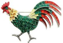 Jewelry: Chickens / Roosters