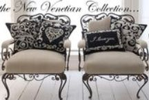 The Venetian Collection / Inspired by the beautiful wrought iron gates and grilles, which adorn the ancient villas and palaces of Venice – Jan's favourite city in the world.