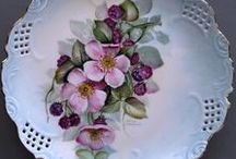 Hand-Painted China / Beautiful hand-painted china and porcelain ... mostly vintage with some newer pieces.  Also, some transfer decorated items.