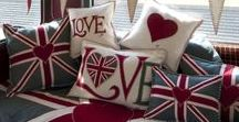 Iconic British Classic Designs / The iconic Union Jack which I softened with the addition of my heart and the love and heart cushions in a plethora of colours have been the backbone of this patriotic ensemble.  Each iconic piece in this luxury patriotic collection is lovingly hand-embroidered in part if not all and truly epitomises the Constantine ethos of not only loving our country but being proud to be British!