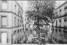 ESTP | Paris Bd Saint-Germain / Les bâtiments de l'Ecole constituent deux groupes disctincts. Celui à Paris occupe un îlot de maisons, avec jardin, entre le boulevard Saint-Germain, la rue Du Sommerard et la rue Thénard. Il contient les amphithéatres où se font les cours, les bureaux de l'Administration, les magasins, la maison d'édition désignée sous le nom de Librairie de l'Enseignement Technique et les services de l'Enseignement par Correspondance (L'Ecole chez soi).
