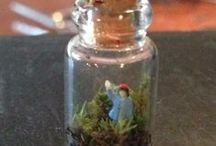 Micro Moss Terrarium / First micro moss terrarium I made in November 2013 using leftover materials.  I haven't spritzed (watered) since.  It's now a tiny ecosystem.  Too cute! / by Raindrops and Roses