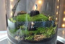 """""""Fore"""" the """"Love"""" of the Game / Moss Terrarium I made for friends...He likes to golf and she likes to play tennis. / by Raindrops and Roses"""
