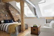MARKET / Featuring the exposed brick work and timber beams of its original warehouse use, a 1200 square feet converted two storey loft, in a historic building, was updated by Rad Design Inc to reflect its new owners and improve the interior living environment. The use of a bright white allows for more ambient light to travel and highlights the exposed brick and timber better as a feature element along with the ductwork and plumbing.