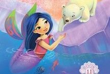Polar Bear Express / The Polar Bear Express is book 11 in the chapter book series, Mermaid Tales, from Simon and Schuster.  In this May 2015 story, Kiki and her merfriends try to save a lost polar bear cub.