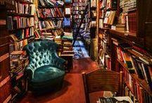 Lieux pour amoureux du livre / Bibliothèques, librairies ou notre lit : les meilleurs endroits pour lire.