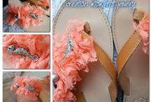Leather slippers & plastic flip flops