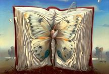 Book Art / Beautiful book art.  Art with books in them. / by Ava Nicole Bloom