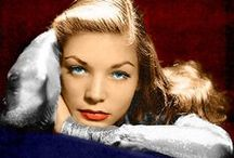 "MY LAUREN B.  9/16/1924-8/12/2014 / aka Lauren Joan Bacall, Betty Joan Perske, ""Baby""- Wife of Humphrey Bogart.  Actress and Mother. She received a Golden Globe Award and an Academy Award nomination. In 2009. she received an Academy Honorary Award from the Academy of Motion Picture Arts and Sciences.  Cause of death: Massive stroke. / by bob spear"