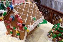 Gingerbread Express / Enjoy the sweetly-decorated village of gingerbread houses that the Gingerbread Express rides through.