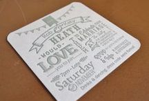 Letterpress Wedding Stationery from The Smallprint Co. / Wedding invitations and stationery hand printed to order by The Smallprint Company www.smallprintcompany.co.uk