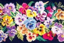 BRODERI -  Blommor