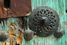 Door, handle, latch, door knocker- I'm a big fan / love, love, love