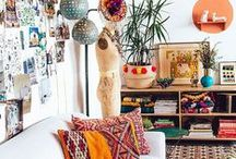 BOHEMIAN / Try this hot interior design trend to add a laid-back boho-chic vibe to your home.
