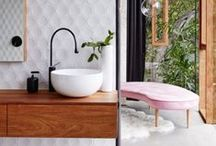 BATHROOM / Dream bathtubs, tile trends and styling tips for a bright and fresh bathroom.