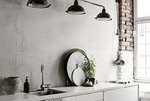 COOL CONCRETE / Bring the industrial decor trend to your home with these cool ideas and inspiration.