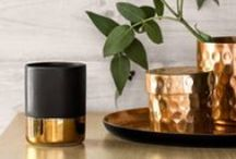 METALLICS / Make a statement in your home with these striking metallic decor ideas and inspiration.