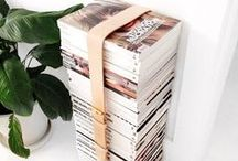 STACKED MAGAZINES / Showcase your reads in a stack with these chic ideas and inspiration.