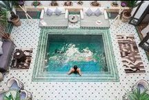 Riad Yasmine, Marrakech, Morocco / Riad Yasmine, Marrakech, Morocco - A haven of chic architectural beauty and authentic charm hidden in the heart of the red city #pool #hotel #traditional #boutique #honeymoon #travelwithkids #solotravel