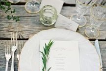 Setting the Table / Beautiful table settings and dinnerware.