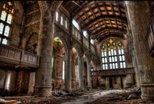 Architectural Decay / We create new, beautiful buildings, we restore them. There is a certain poetry in architectural decay. Some of these images write volumes of history - actual and imagined.