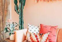 Hippie/Boho Home Decor / Colorful home decor inspiration, interiors and ideas
