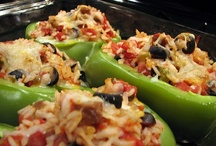 Suffed Peppers / Stuffed Bell Peppers are a great dinner. Here are some delicious pictures! / by Brianna Briggs