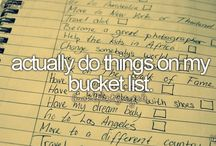 •bucket list• / my cute bucket list:)