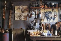 Studio spaces and organization / Creative spaces and ideas to keep them organized. / by Veiled Visage