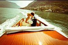 E+T's Lake Como / #LakeComo #destinationwedding shabby chic Lake #Villa