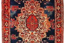 Cut a Persian rug / collection of Persian rugs