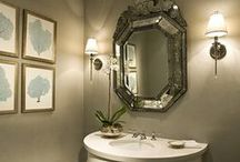 Powder Rooms Design Connection, Inc. Loves / Powder Rooms can be so much fun to design! You don't have to keep with the style or design theme that carries through the rest of your home.   You can see all of our powder and bathroom designs and Before & After pics is here: http://ow.ly/rI7RT