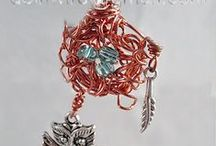 doinWire-Birds-Nest / Images of my doinWire handcrafted copper wire jewellery - it's a little bit different. Anything birds, bird nest, bird cage.