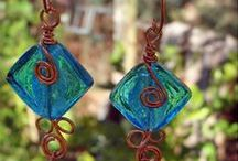doinWire-Earrings-Copper / Images of my doinWire handcrafted copper wire jewellery - it's a little bit different. Copper Earrings, one of a kind handmade jewellery (jewelry).