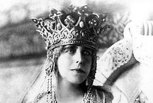 "Queen Marie of Romania / ""I was barely seventeen when I came to you. I was young and ignorant, but very proud of my native country, and even  now, I am proud to have been born an Englishwoman... but I bless you, dear Romania, country of my joy and my grief, the beautiful country which has lived in my heart"" (queen Marie of Romania)."
