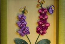 Quilling flowers in pots/teapots