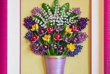 Quilling flowers in vase