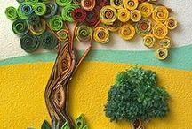 Quilling trees