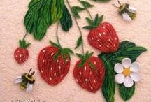 Quilling fruits and vegetables