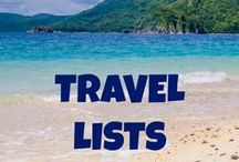 Travel Lists / Find travel lists to help you plan your next luxury, romantic, adventure vacation.