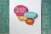 Speech Bubble Cards