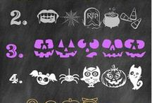 Halloween Fonts / Halloween fonts perfect for your party invitation, printables and more