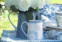 I love blue & white together! / Some of my favorite blue and white things / by Charlotte Pawlak
