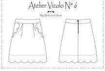 Free Sewing Pattern and tutorial - Atelier Vicolo N° 6 / Cartamodelli Gratuiti di Atelier Vicolo N. 6 Patrons de couture gratuits de Atelier Vicolo N.6 Free Sewing Pattern by Atelier Vicolo N. 6