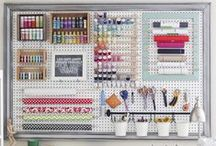 Craft Room Organization / Decorating and organization ideas for the craft room!